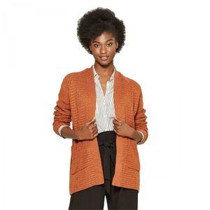 NWT A New Day Texture Cardigan Sweater Medium Rust